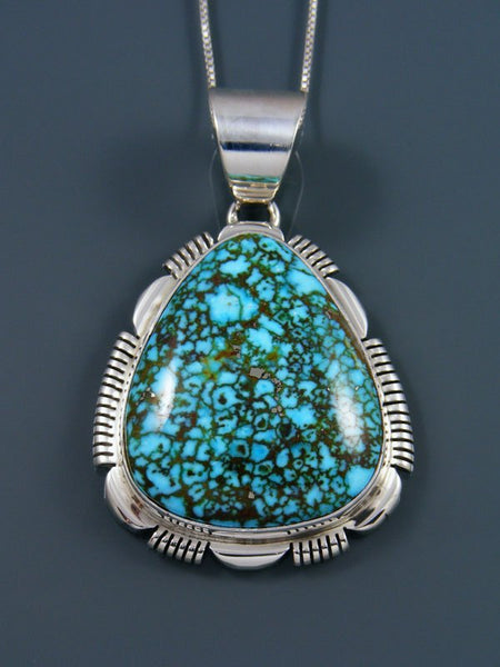 Native American Indian Kingman Redweb Turquoise Pendant
