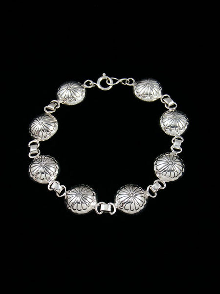 Native American Stamped Sterling Silver Bracelet