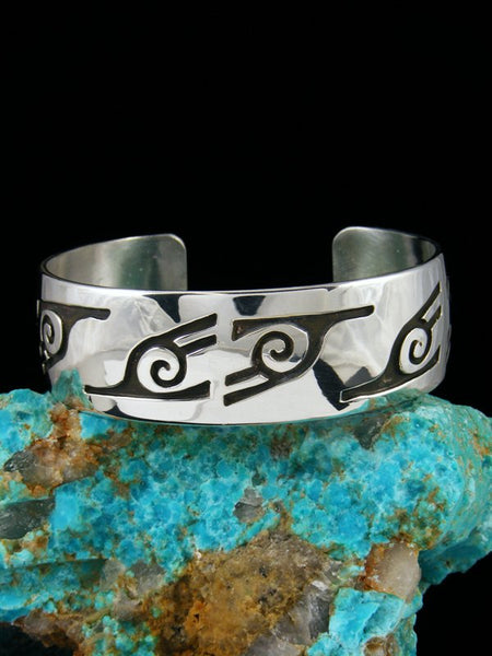 Native American Sterling Silver Overlay Cuff Bracelet