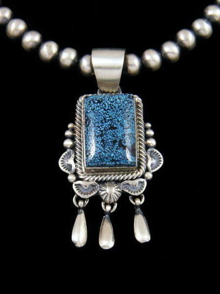 Native American Kingman Blackweb Turquoise Necklace