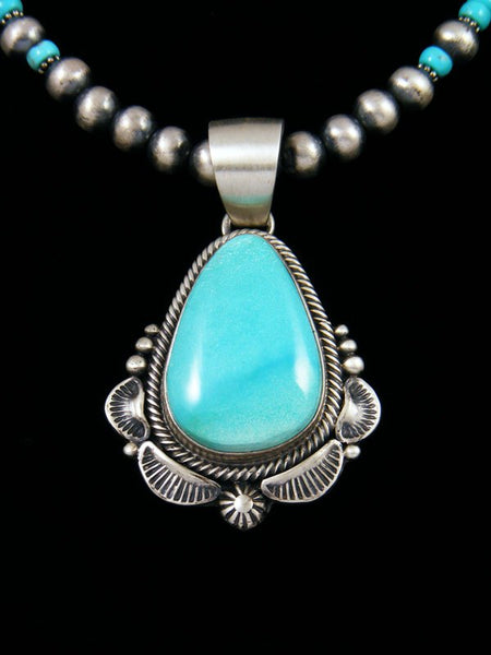 Native American Sterling Silver Sleeping Beauty Turquoise Necklace