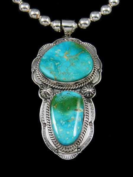 Native American Indian Jewelry Kingman Turquoise Necklace