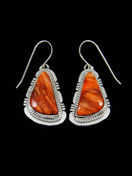 Navajo Spiny Oyster Shell Dangle Earrings