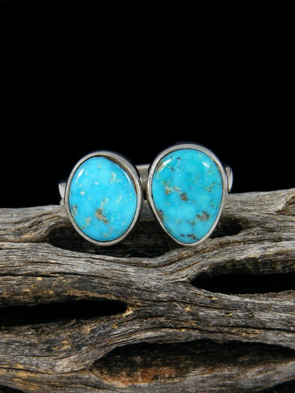 Adjustable Kingman Turquoise Ring, Size 8-9