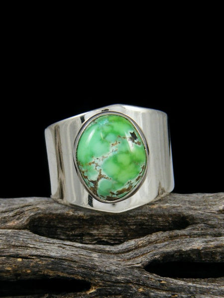 Natural Carico Lake Turquoise Sterling Silver Ring, Size 5