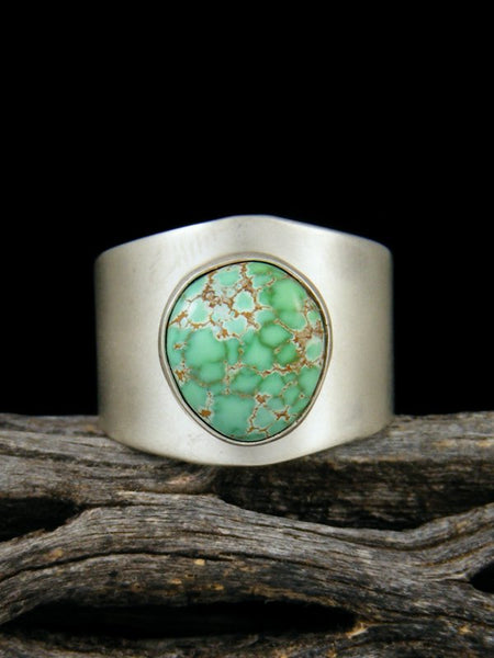 Natural Carico Lake Turquoise Sterling Silver Ring, Size 6 1/2