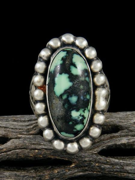 New Lander Variscite Sterling Silver Ring, Size 7