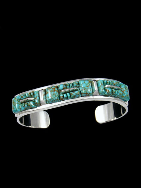 Native American Sterling Silver Number Eight Turquoise Cuff Bracelet