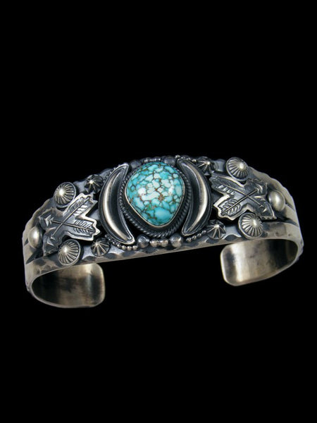 Native American Sterling Silver Number Eight Turquoise Bracelet