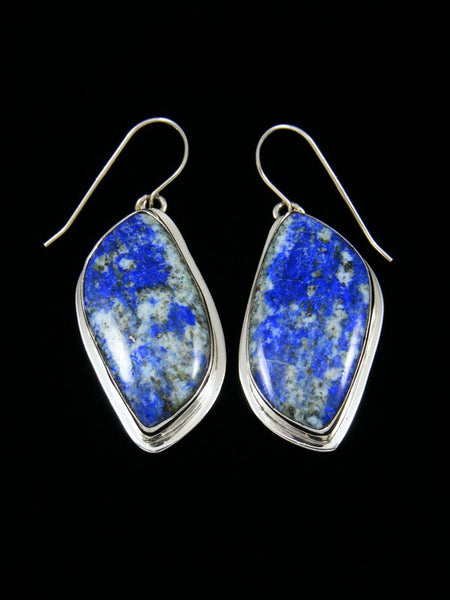 Lapis Sterling Silver Dangle Earrings