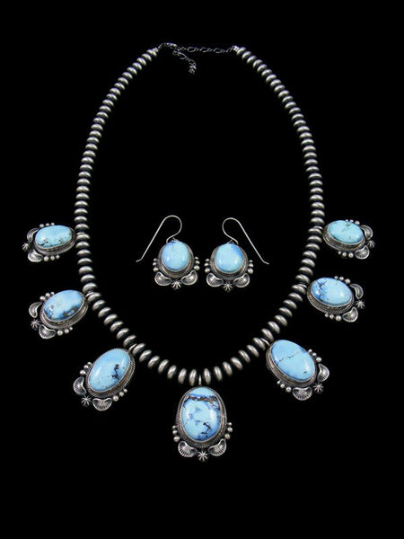 Golden Hill Turquoise Tear Drop Necklace and Earring Set