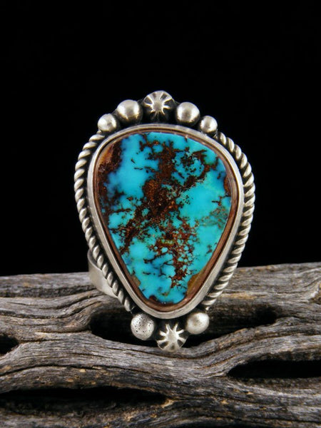 Pilot Mountain Turquoise Ring, Size 6.5