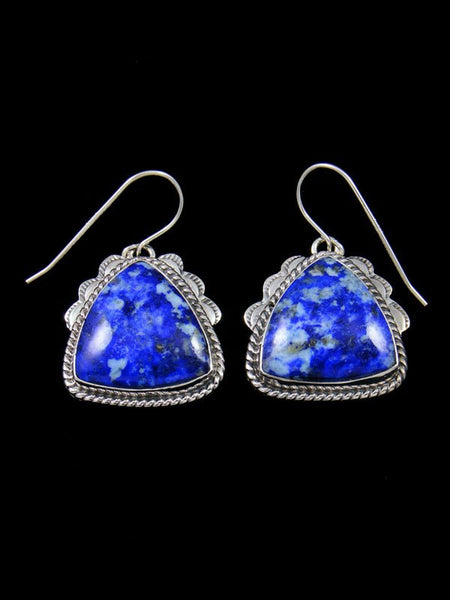 Native American Jewelry Lapis Dangle Earrings