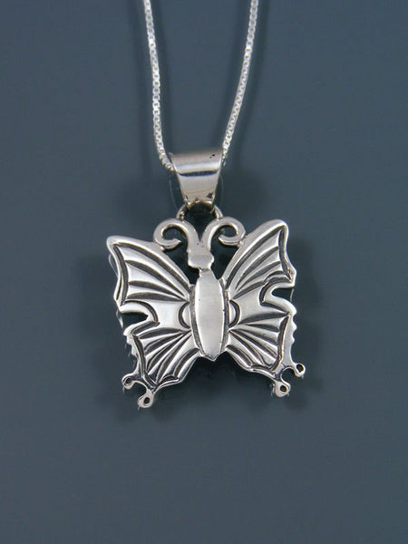 Navajo Sterling Silver Butterfly Pendant
