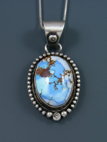 Golden Hill Turquoise Navajo Sterling Silver Pendant