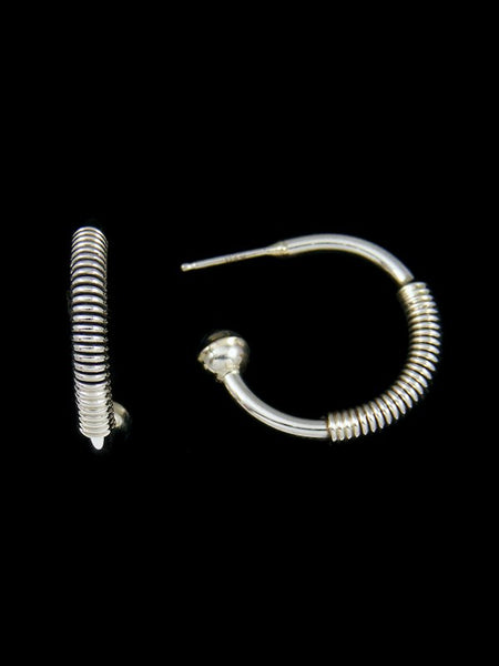 Navajo Sterling Silver Hoop Post Earrings