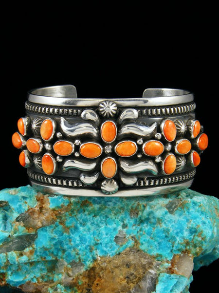 Native American Sterling Silver Spiny Oyster Bracelet