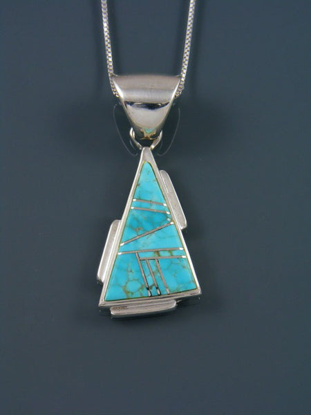 Native American Turquoise Inlay Pendant