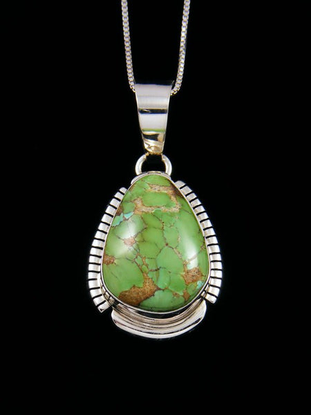 Sterling Silver Sonoran Turquoise Navajo Made Pendant