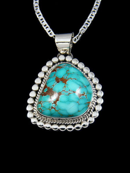 Sierra Nevada Turquoise Navajo Sterling Silver Pendant