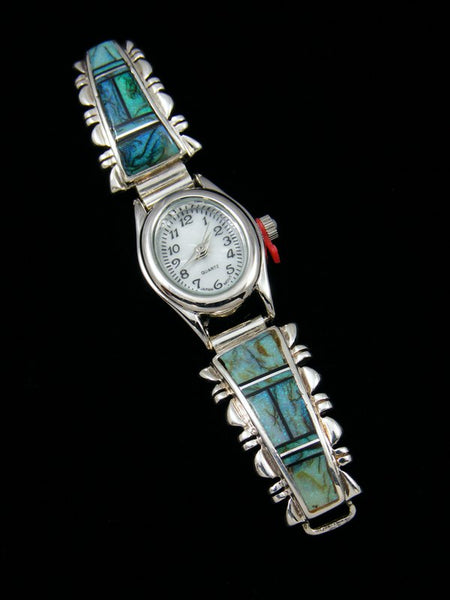 Native American Jewelry Monarch Opal Inlay Ladies' Watch
