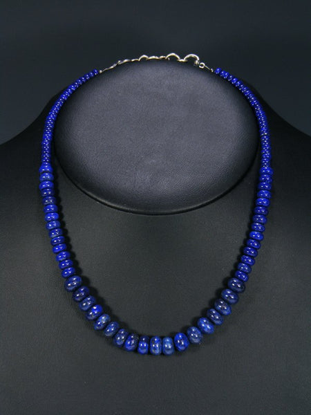 Native American Graduated Lapis Necklace