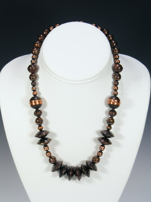 Native American Mixed Copper Bead Necklace