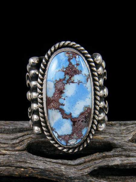 Natural Golden Hill Turquoise Ring, Size 7