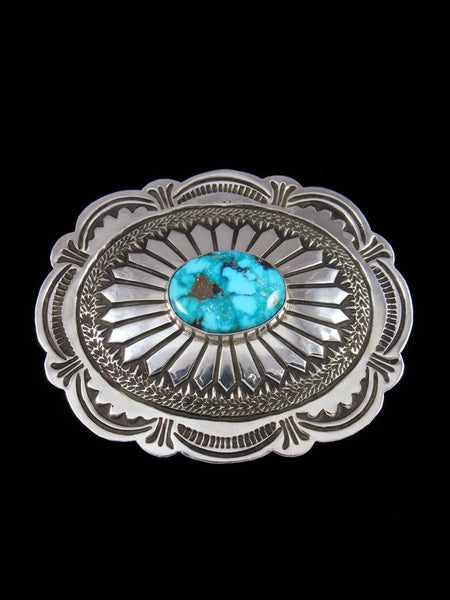 Native American Royston Turquoise Belt Buckle