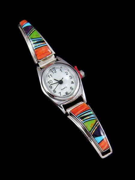 Native American Jewelry Spiny Oyster Inlay Ladies' Watch