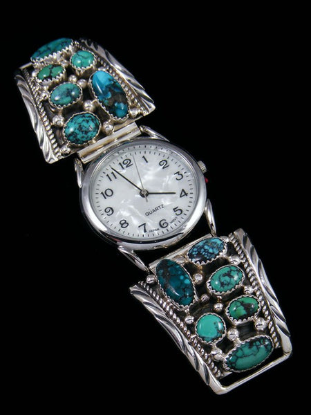 Native American Indian Jewelry Cloud Mountain Turquoise Men's Watch
