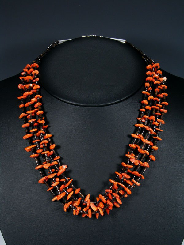 Native American Shell Heishi and Spiny Oyster Necklace