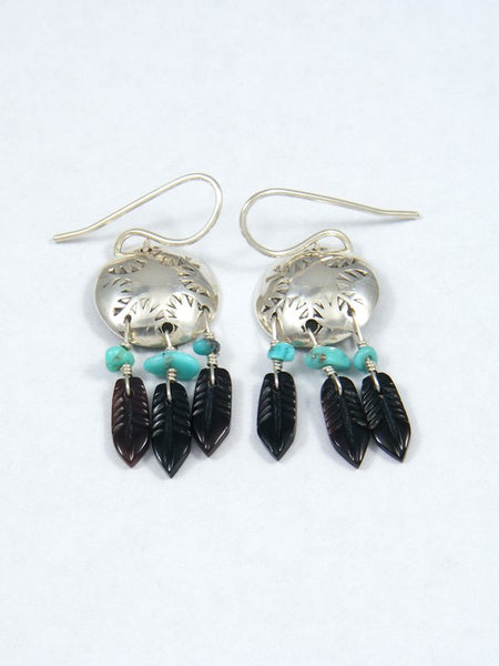 Sterling Silver Turquoise Dreamcatcher Earrings