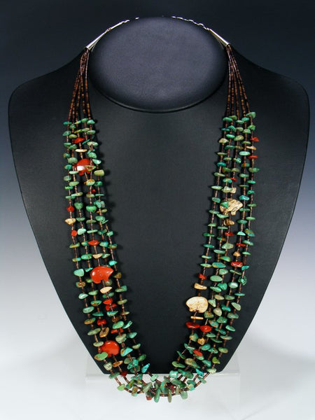 Native American Turquoise Fetish Bear Necklace