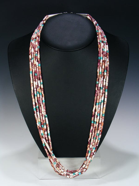 Native American Turquoise and Wampum Shell Necklace