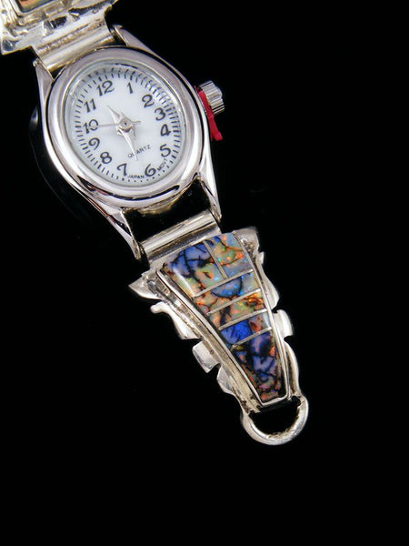 Native American Indian Jewelry Monarch Opal Inlay Ladies' Watch