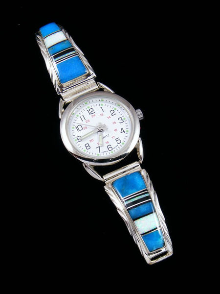 Native American Jewelry Turquoise Inlay Ladies' Watch
