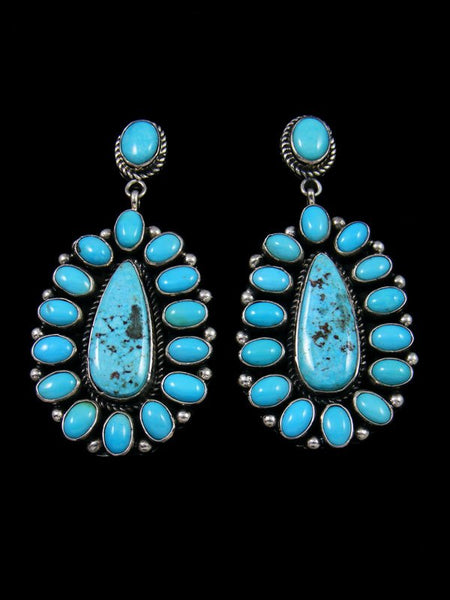 Kingman and Sleeping Beauty Turquoise Navajo Post Earrings