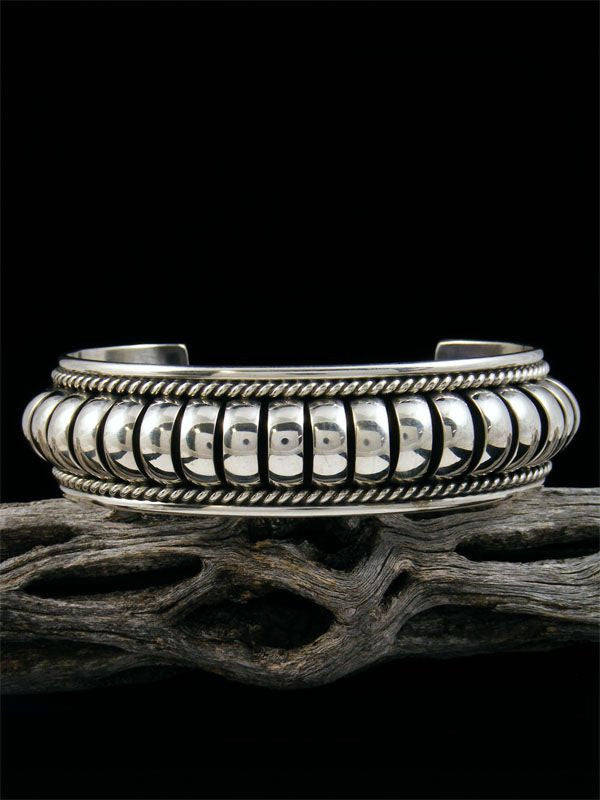 Native American Sterling Silver Bracelet by Priscilla Apache - PuebloDirect.com