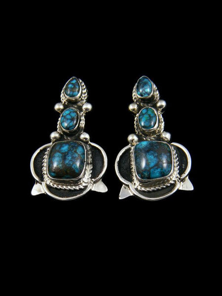 Sterling Silver Chinese Turquoise Post Earrings