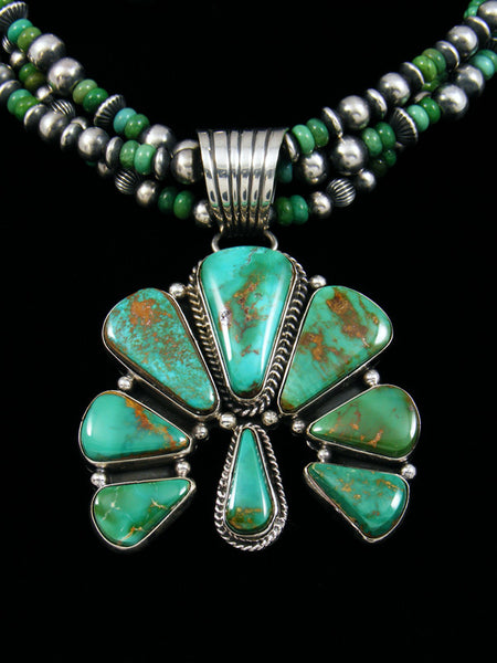 Native American Natural Royston Turquoise Naja Necklace Set