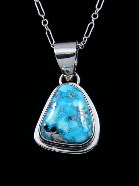 Native American Indian Jewelry White Water Turquoise Pendant
