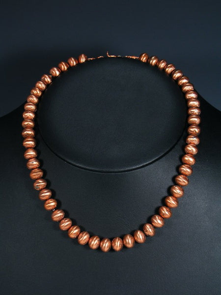 Native American Handmade Copper Bead Necklace