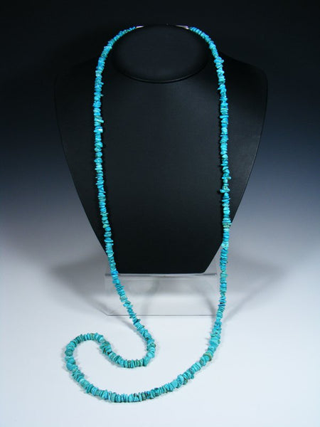 Native American Extra Long Wrap Turquoise Necklace