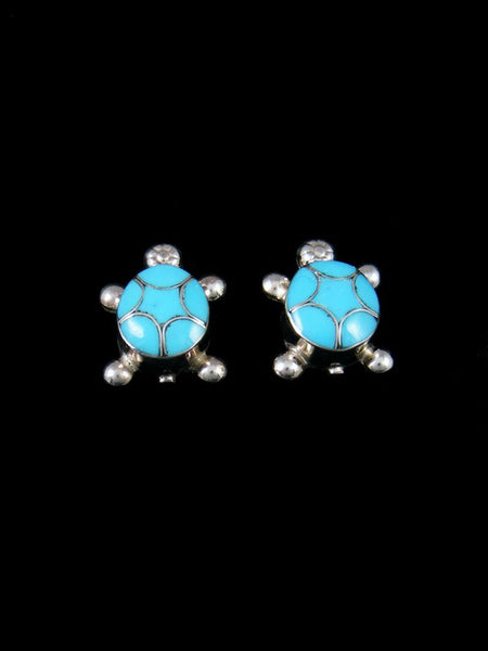 Native American Indian Jewelry Turquoise Turtle Post Earrings
