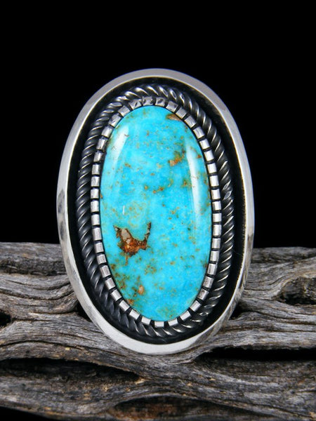 Native American Kingman Turquoise Ring, Size 8
