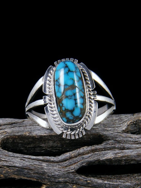 Number 8 Turquoise Ring, Size 7 1/2