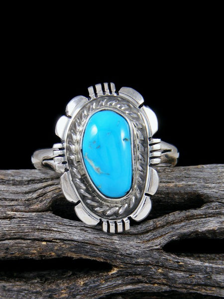 Cloud Mountain Turquoise Ring, Size 10 1/2