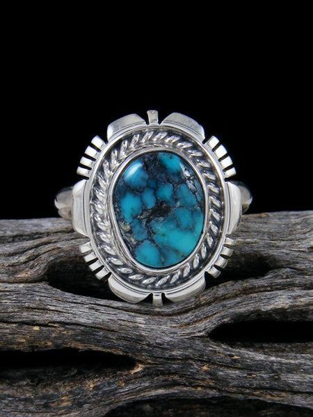 Cloud Mountain Turquoise Ring, Size 8