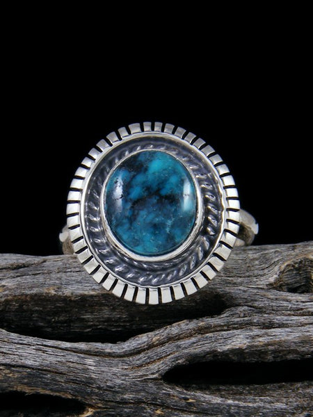 Cloud Mountain Turquoise Ring, Size 7 1/4